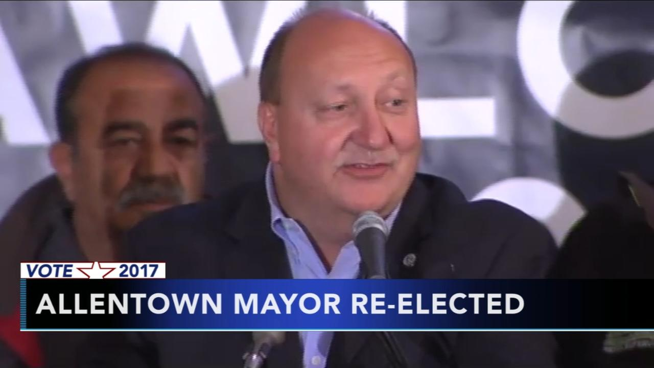 Indicted Allentown mayor elected to fourth term