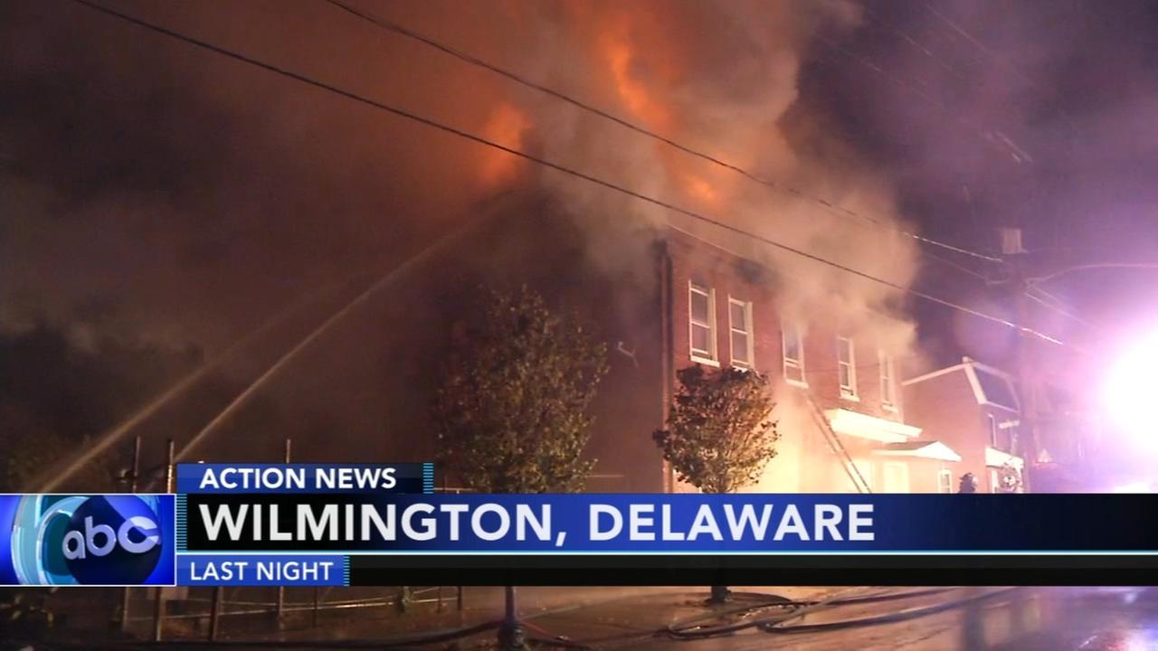 Crews battle Wilmington fire