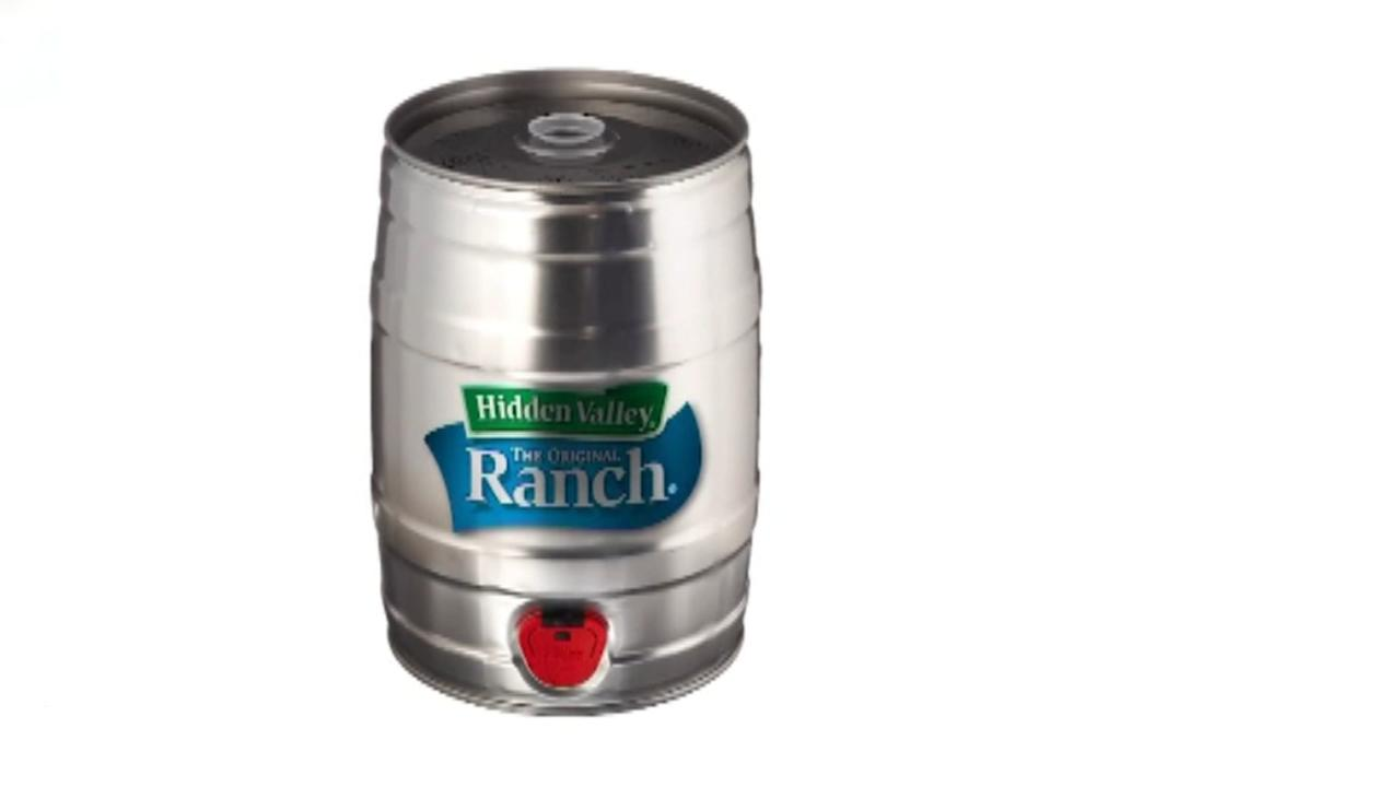 Website selling 5 gallon kegs of Hidden Valley ranch dressing
