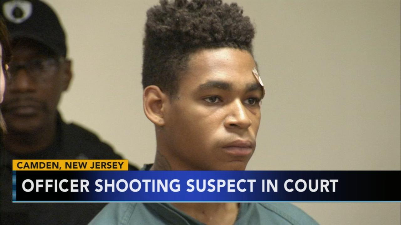 Camden officer shooting suspect appears in court