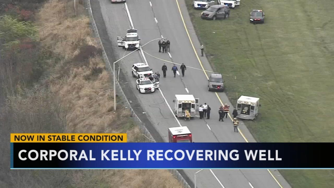 Condition of Pa. trooper, shot during gunfight, improving