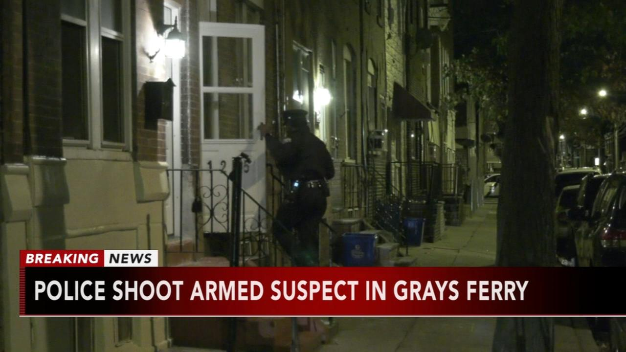 Police shoot armed suspect in Grays Ferry