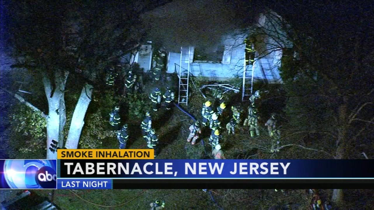 2 treated for smoke inhalation after fire breaks out in Tabernacle