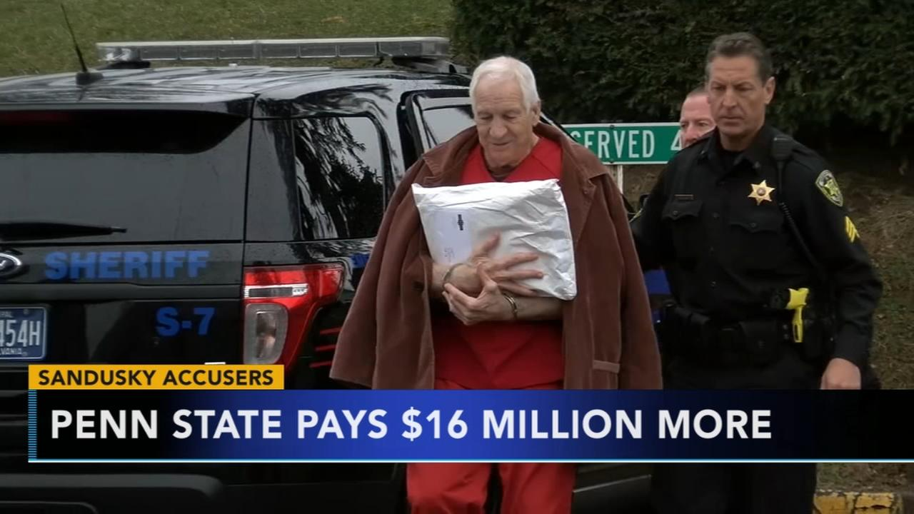 Penn State pays out additional $16 million in Sandusky settlements