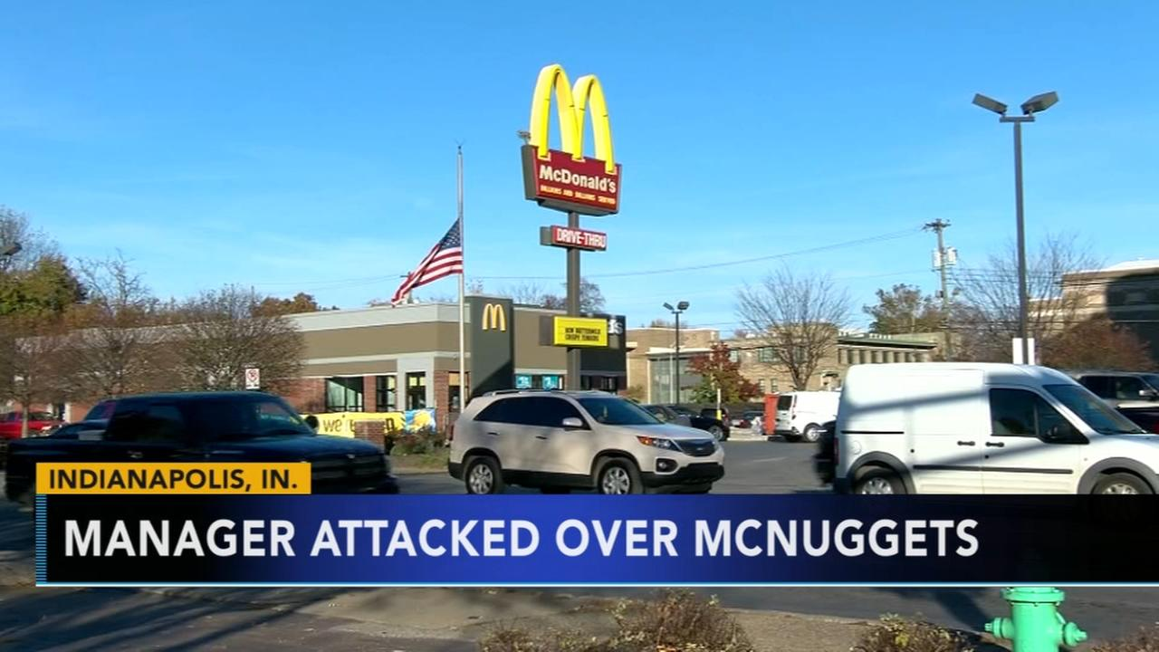 Indianapolis McDonalds manager attacked over chicken nuggets