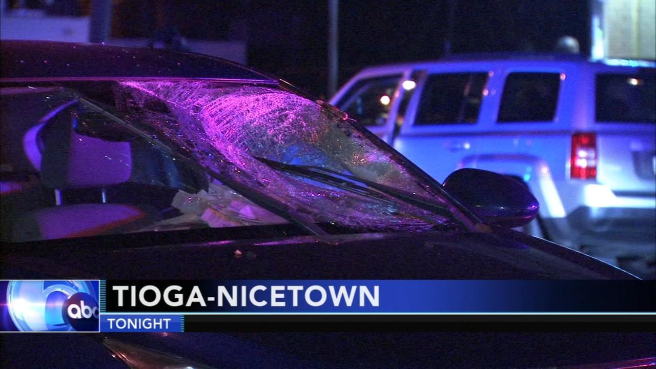 3 cars collide, pedestrian struck in Tioga-Nicetown