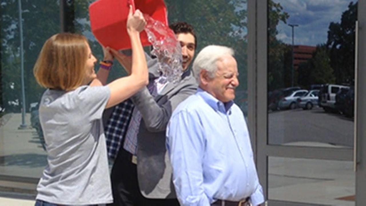 Pictures of Jim Gardners Ice Bucket Challenge