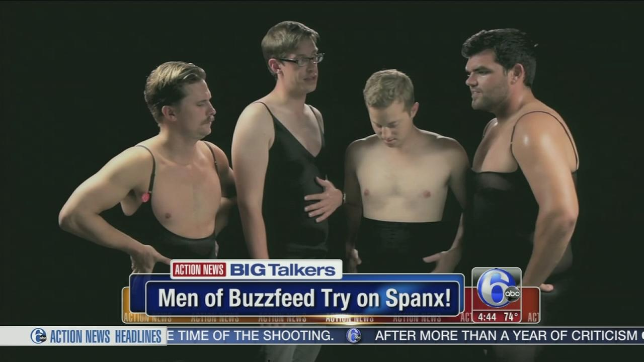 VIDEO: Guys test out Spanx - and its not pretty