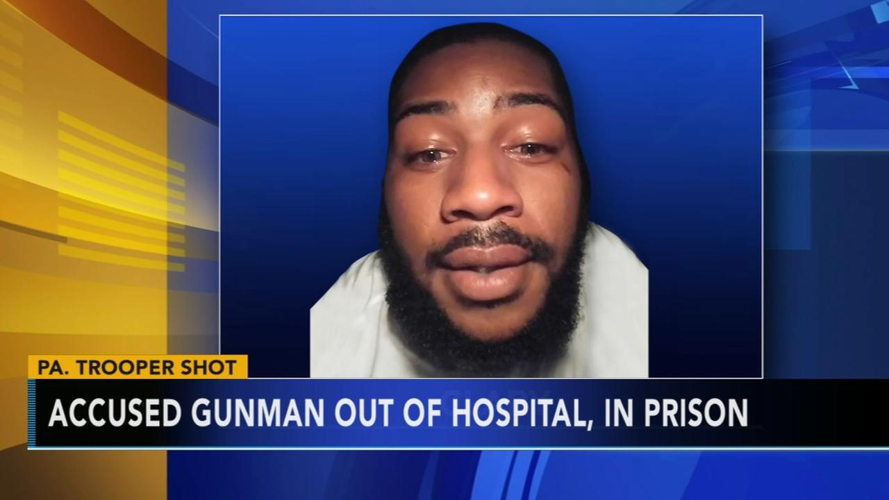 Suspect in shooting of trooper discharged from hospital