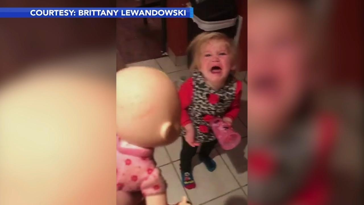 VIDEO: Girls reaction to burnt doll goes viral