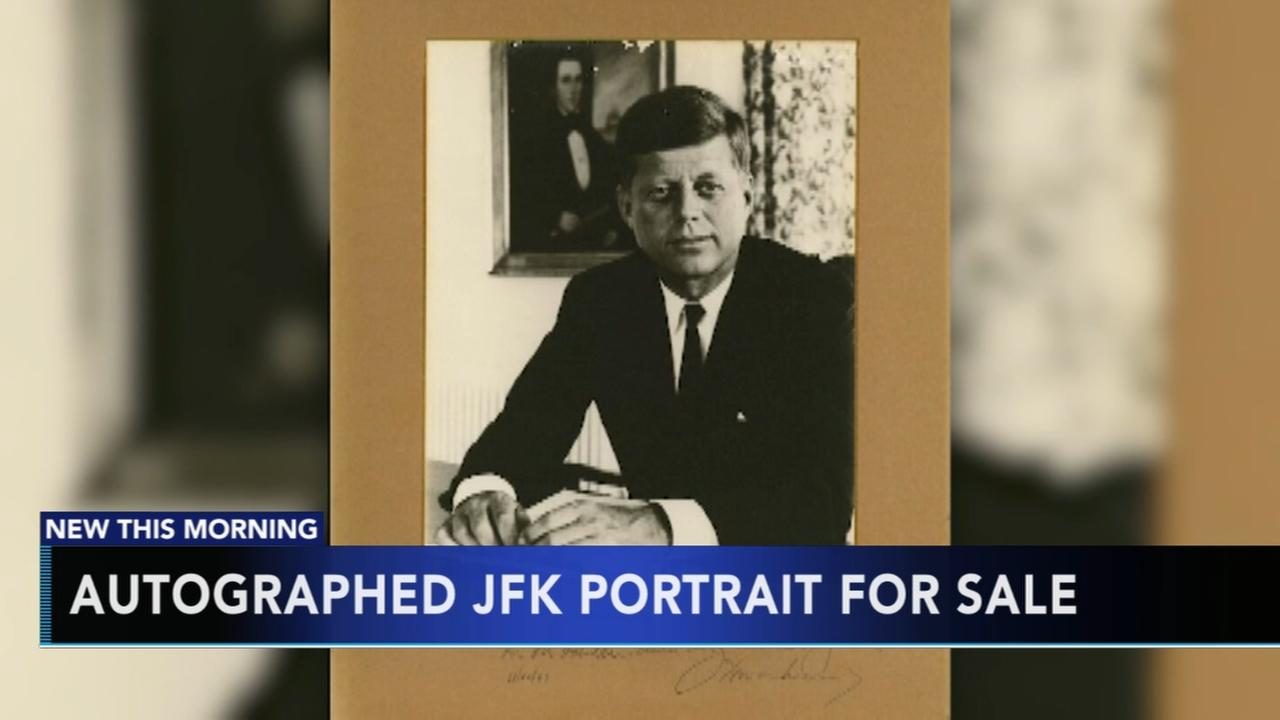Autographed JFK portrait for sale