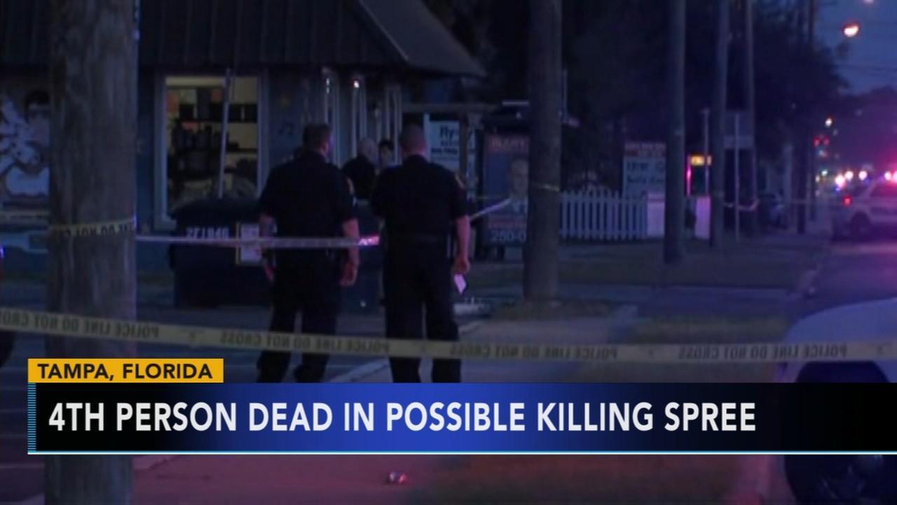 4th person dead in possible Fla. killing spree