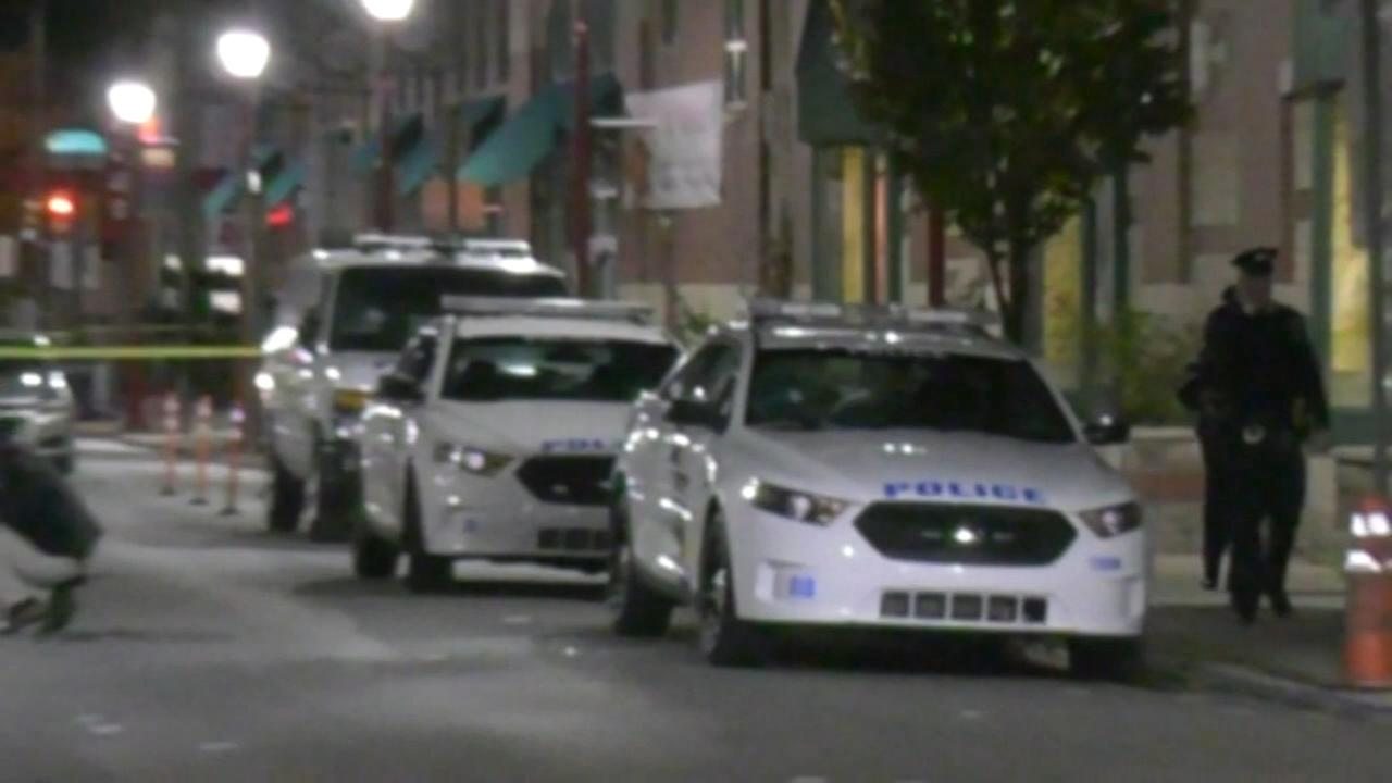 Police cars vandalized on South Street