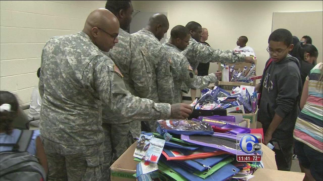 VIDEO: Operation Homefront gives school supplies to military kids