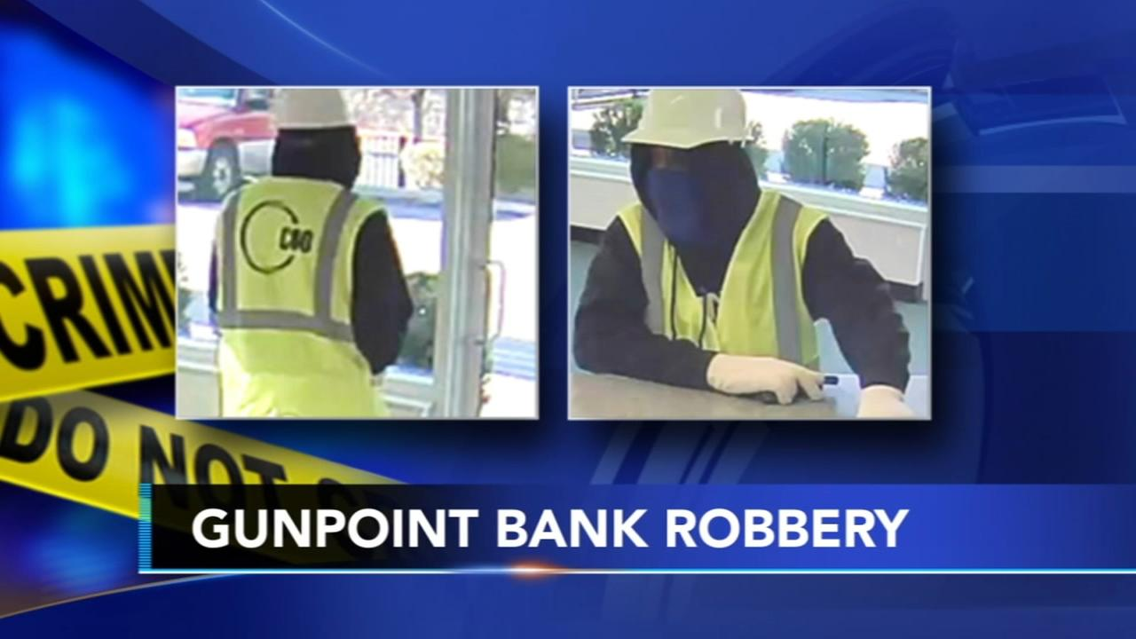 Armed bank robber sought in Philadelphia