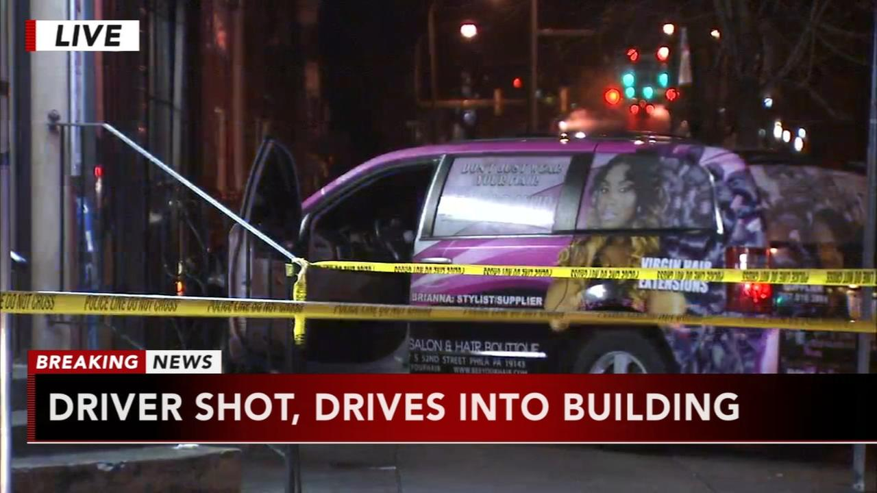Man shot and killed, crashes van into West Philadelphia salon