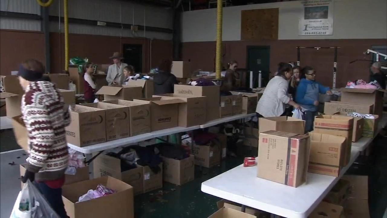 Donations at max capacity after fire