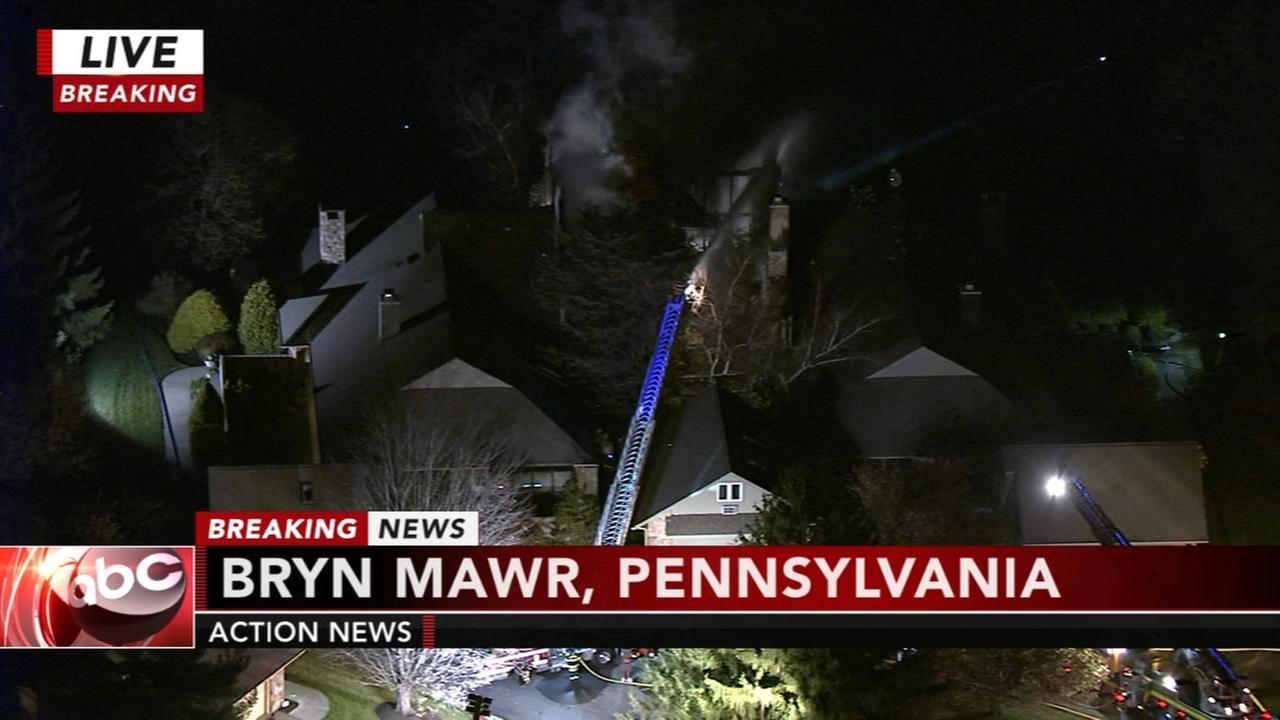 Fire damages residence in Bryn Mawr