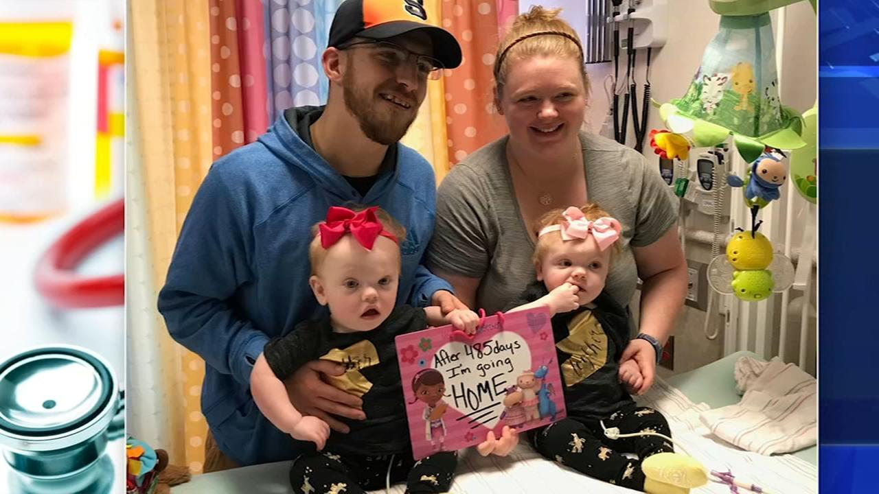 Formerly conjoined twins head home from CHOP