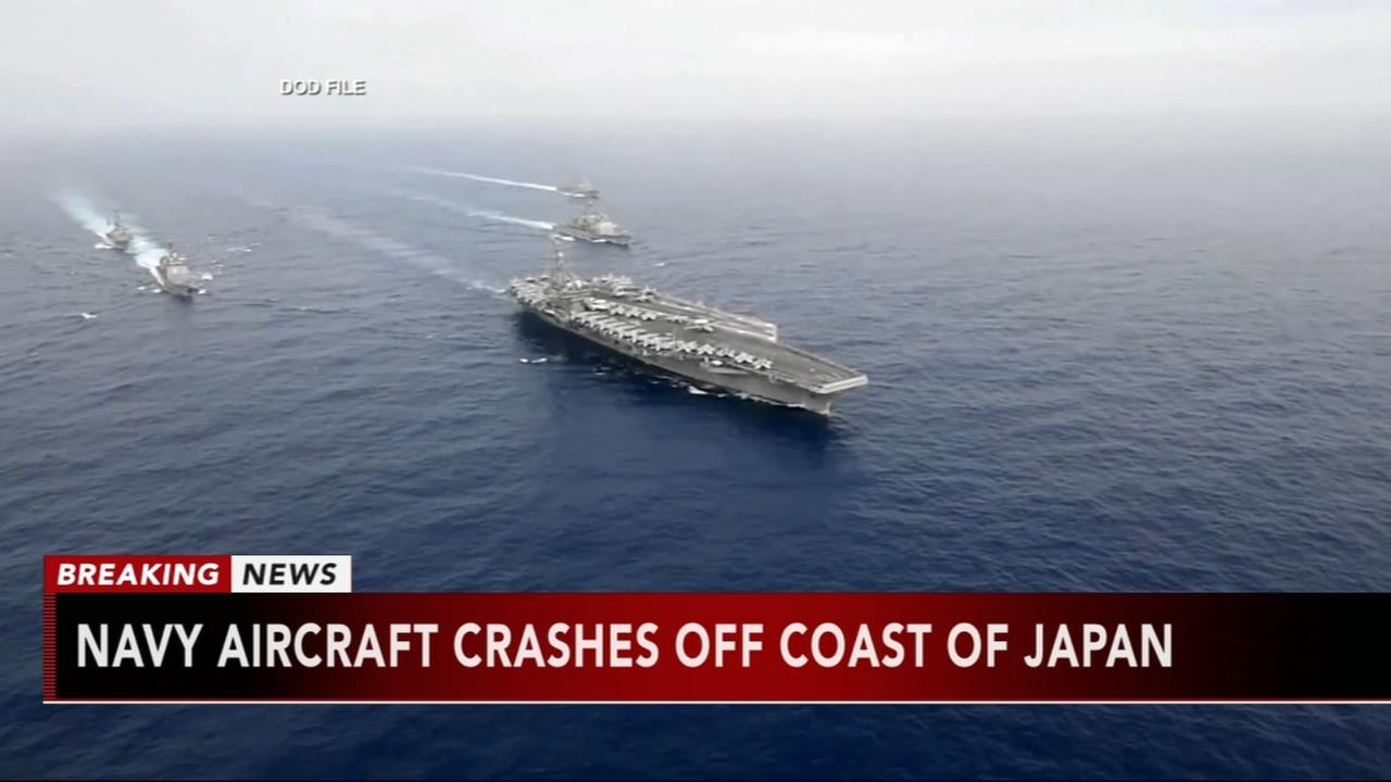 Navy aircraft crashes off Japan
