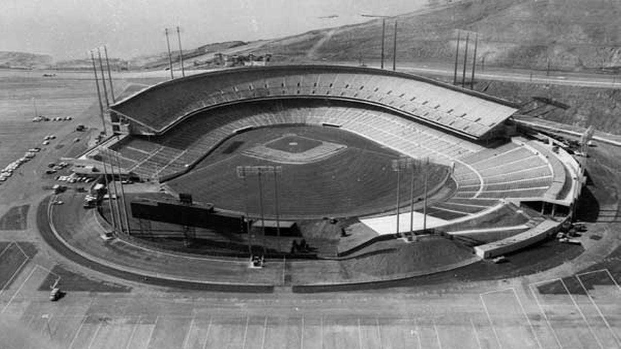 FILE - In this April 1, 1960 file photo, Candlestick Park is shown in San Francisco.