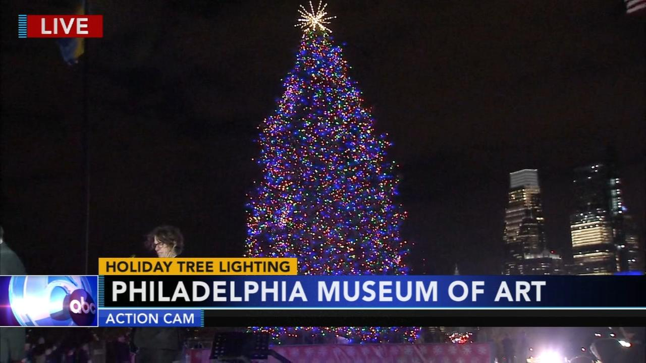 Video of Tree lighting ceremony at Phila. Museum of Art