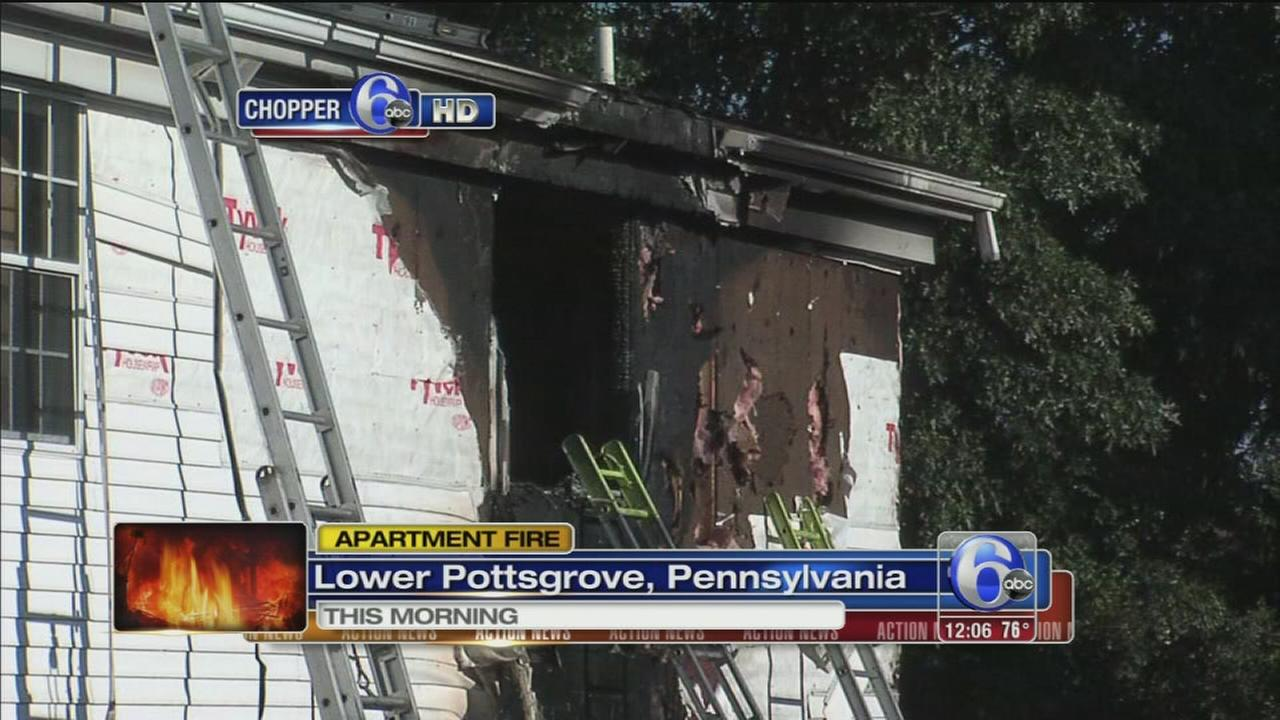 VIDEO: Fire damages townhomes in Lr. Pottsgrove