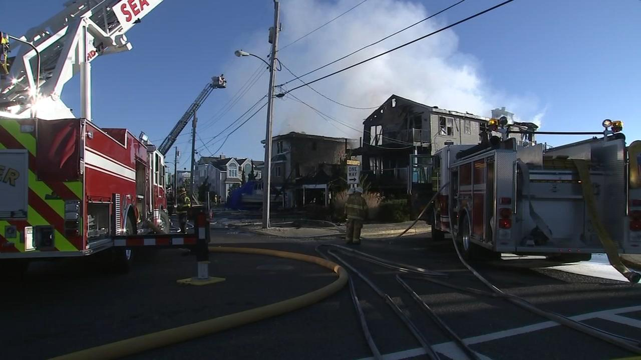RAW VIDEO: Fire in Sea Isle City