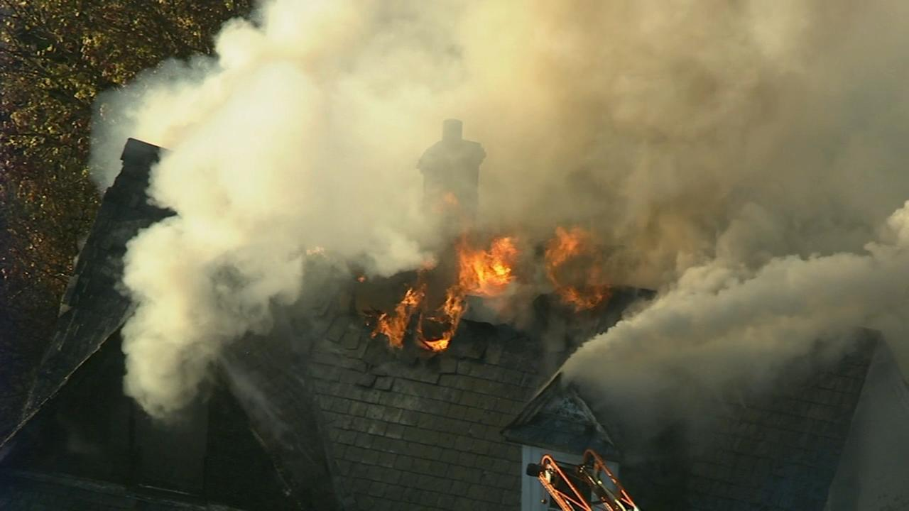Firefighters battle 2-alarm blaze in Clifton Heights, Delaware County Friday.