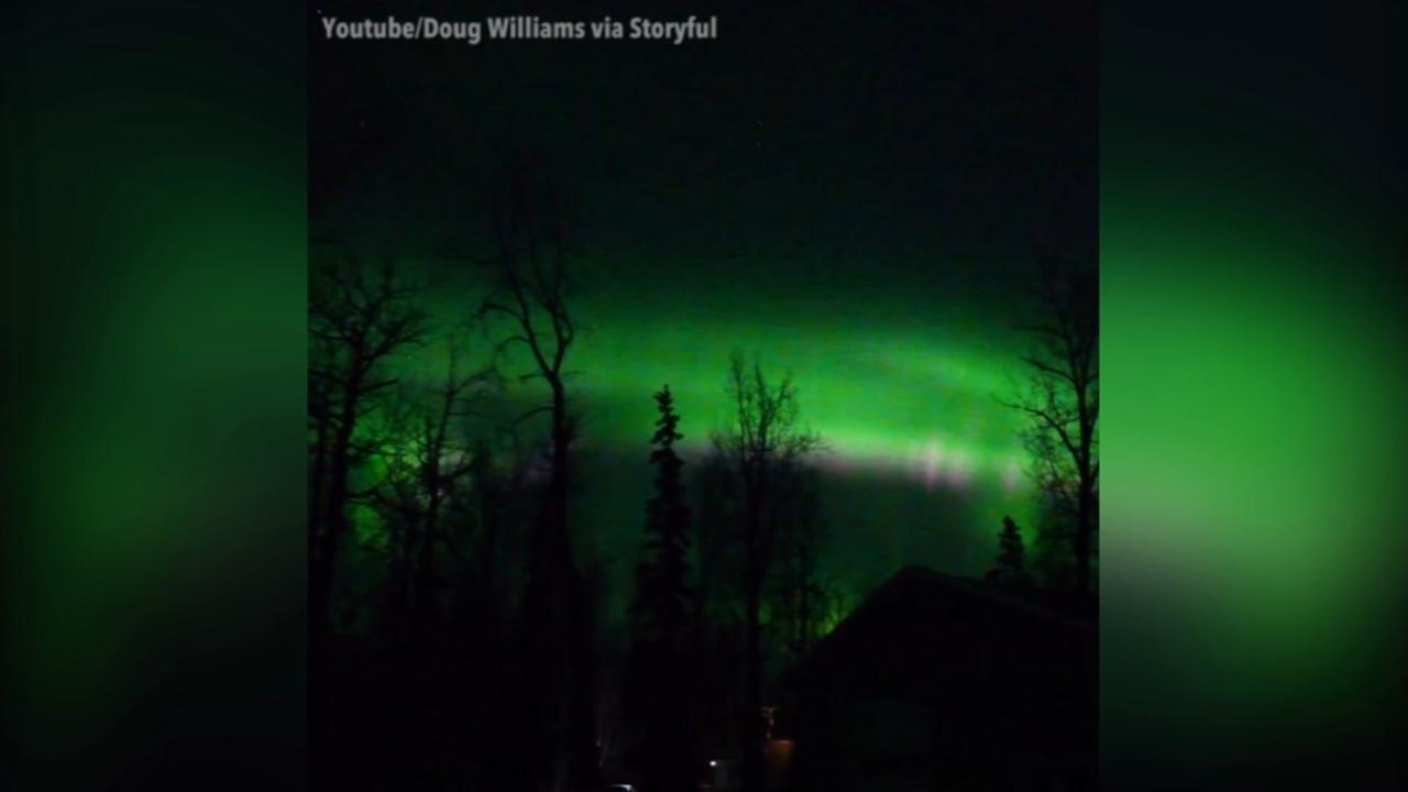 VIDEO: Stunning Northern Lights color Alaska sky