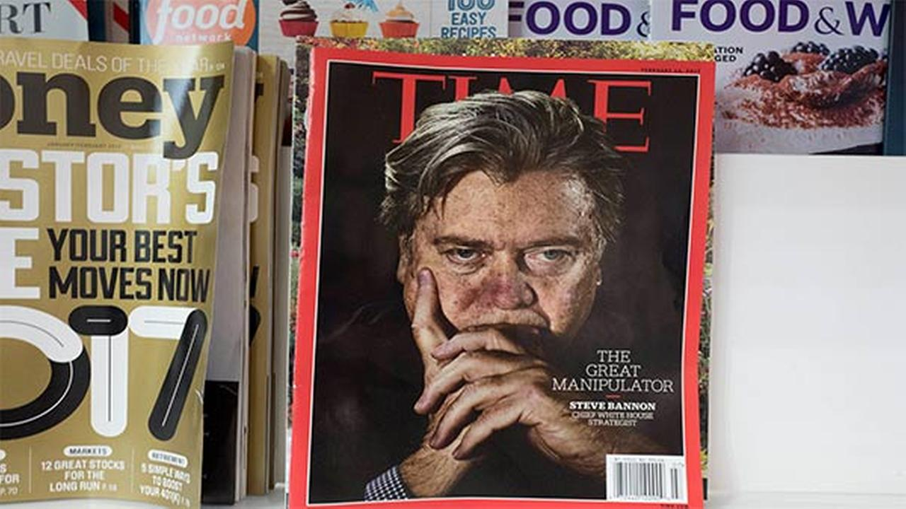 An issue of Time magazine is displayed on a New York newsstand, Thursday, Nov. 16, 2017.