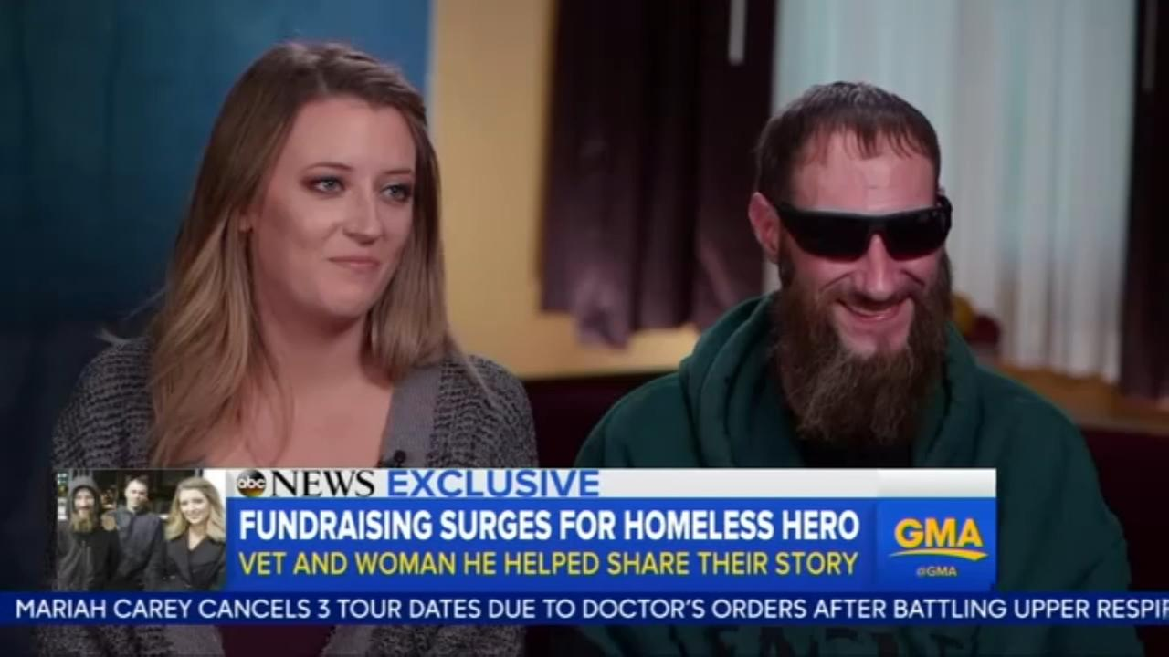 VIDEO: Fundraising surges for homeless hero