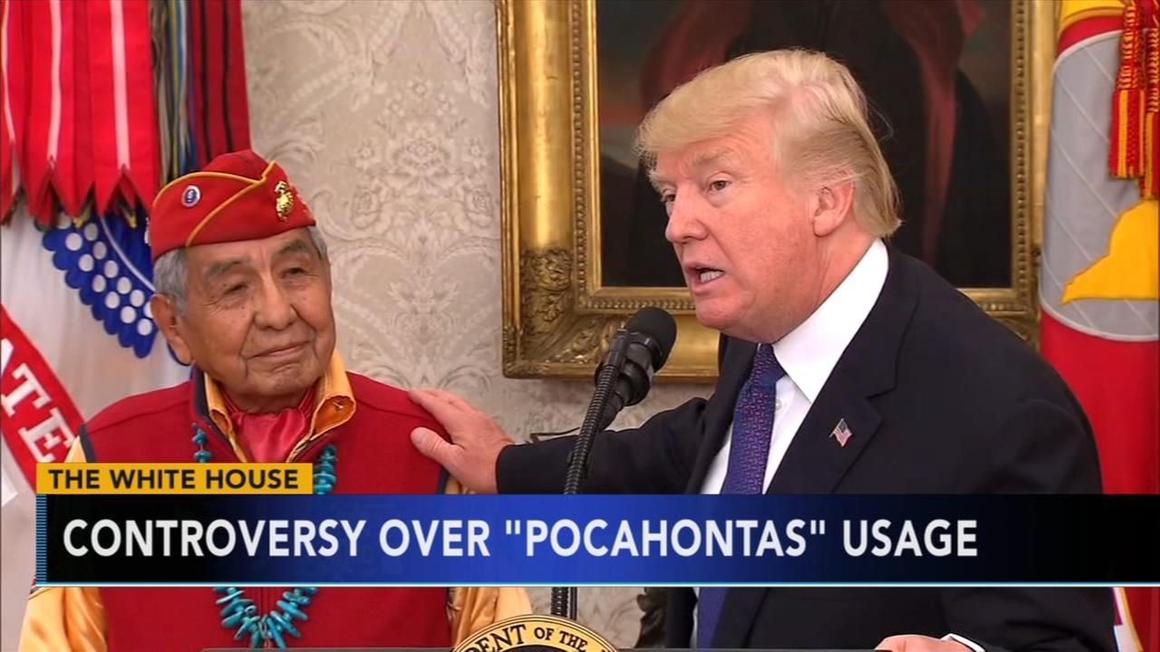 White House defends Pocahontas comments