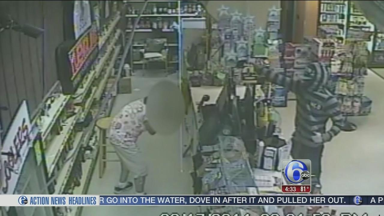 VIDEO: Frustrated bandits fire gun in N.J. robbery attempt