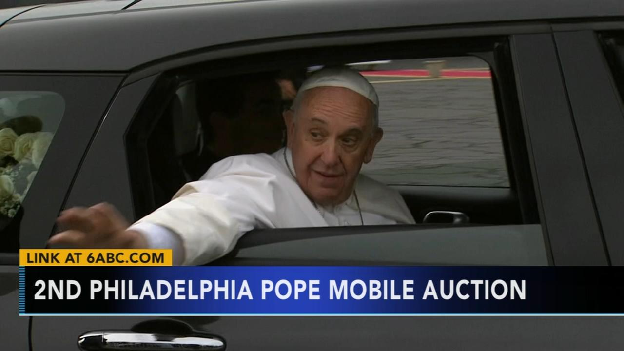 Pope Francis Philadelphia Fiat up for auction