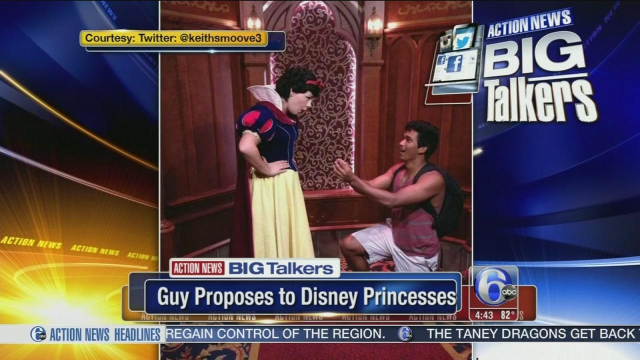 VIDEO: Guys propose to Disney princesses