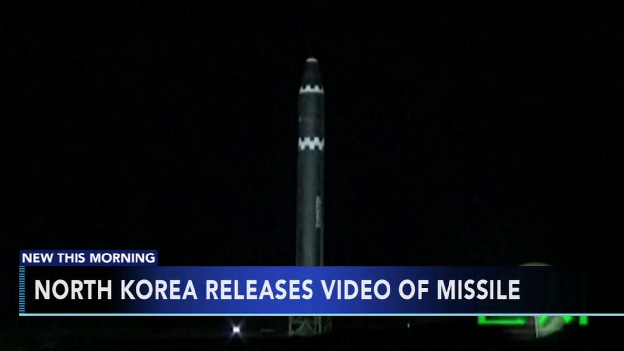 North Korea releases video of missile
