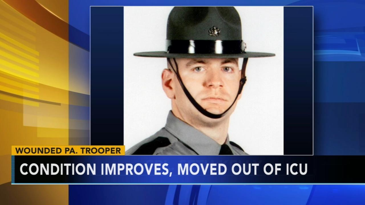 Wounded Pa. State Trooper continues to improve