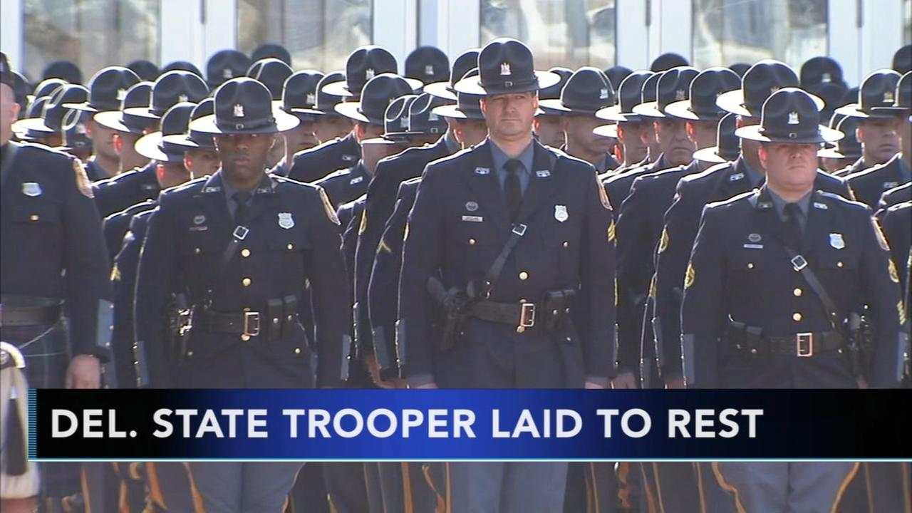 Delaware state police trooper laid to rest