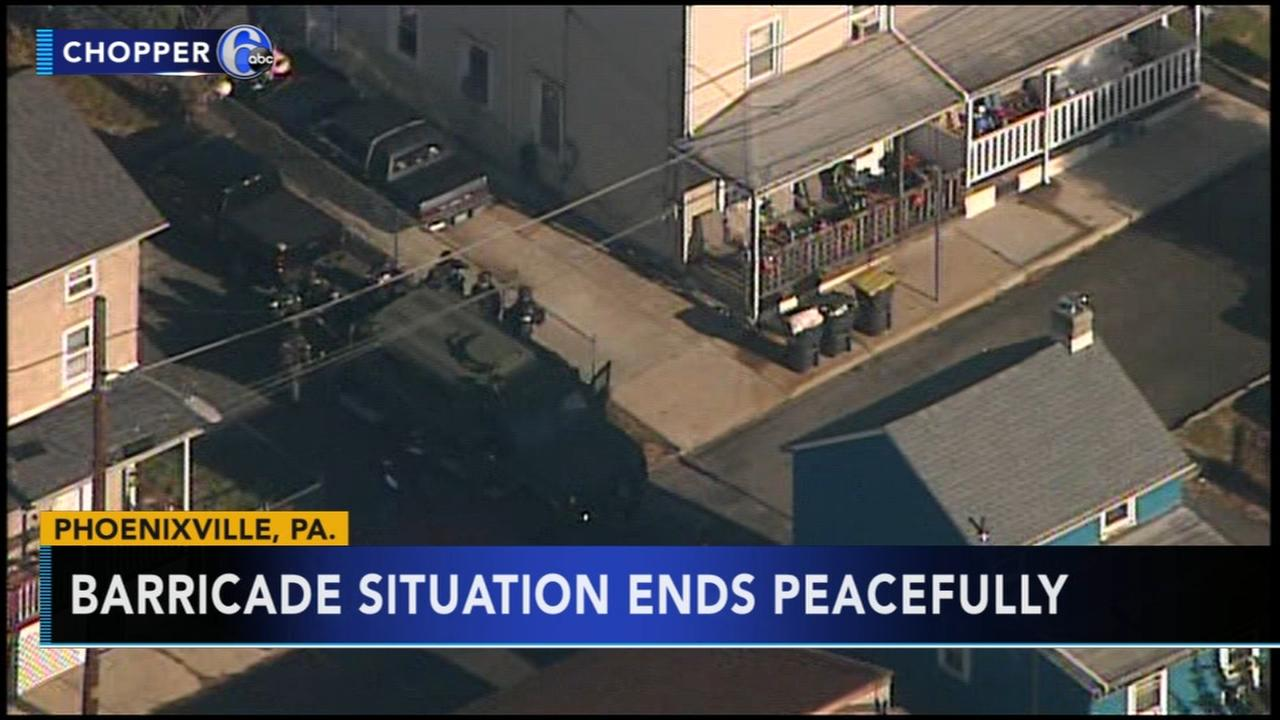Standoff ends peacefully in Phoenixville