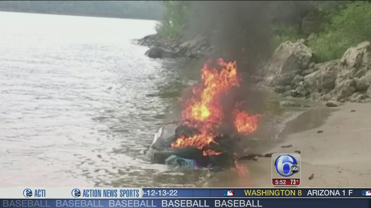 VIDEO: Jet ski explodes on the St. Croix river
