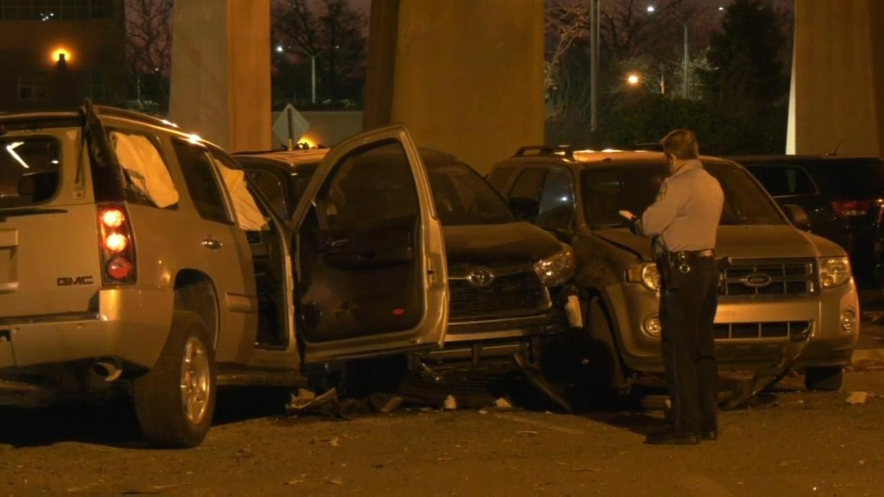 Driver plows through prison fence, hits three cars