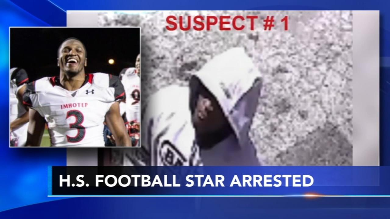 Philly high school football star accused of Wawa robbery