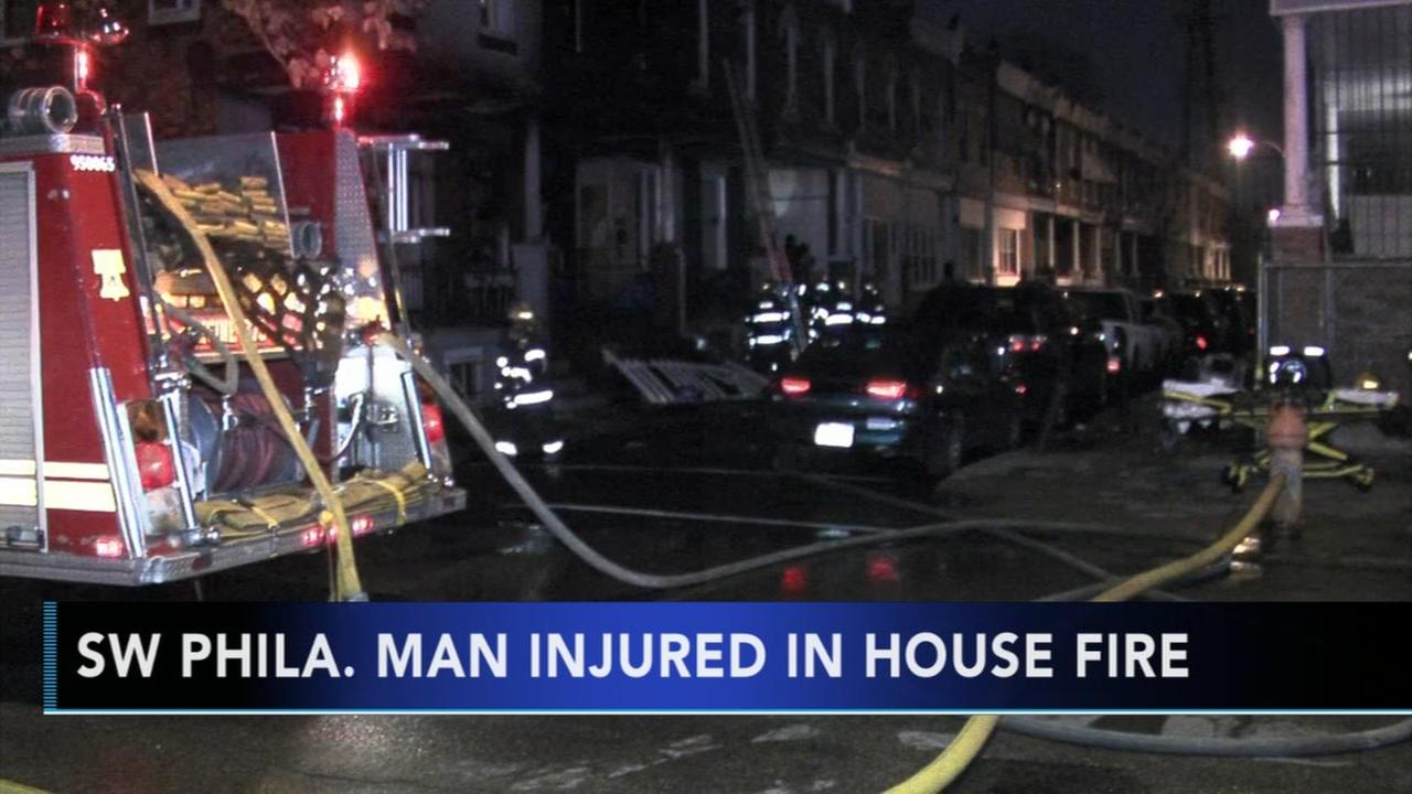 Man injured in Southwest Phila. fire