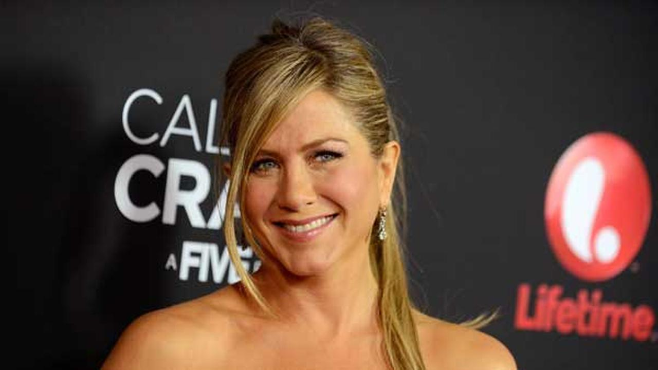 FILE -- In this April 16, 2013 file photo, Jennifer Aniston arrives at the world premiere of Call Me Crazy: A Five Film at the Pacific Design Center in Los Angeles.