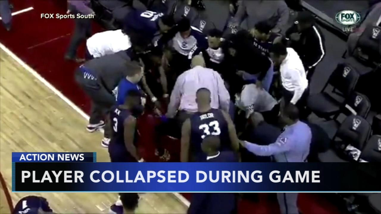 Player collapses during game
