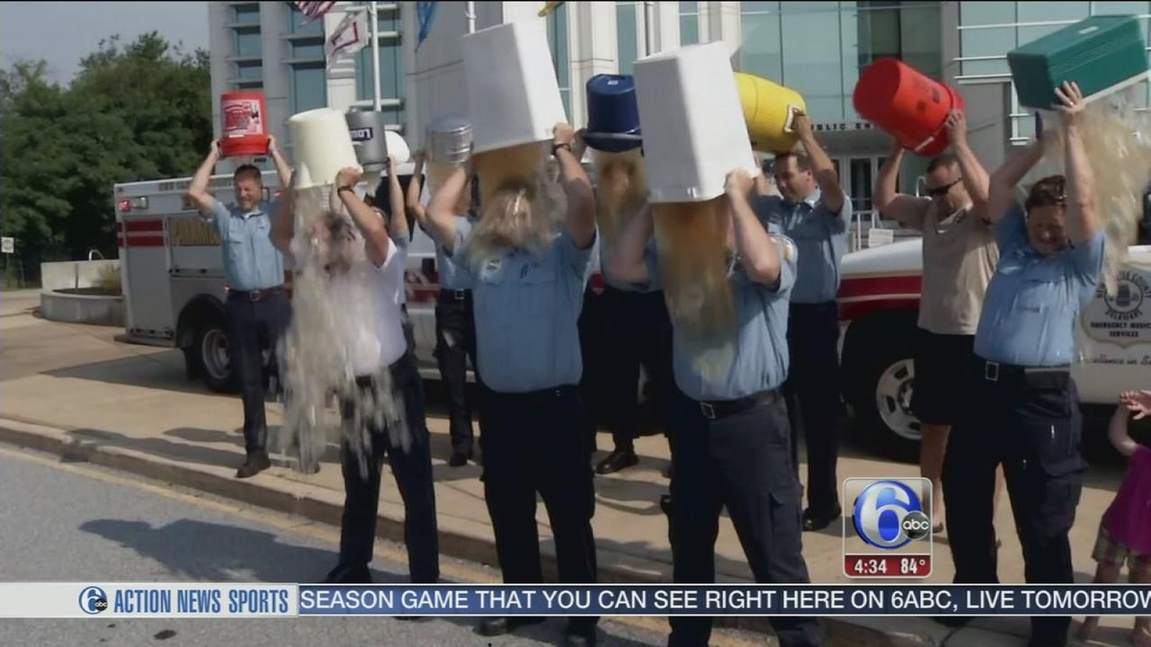 VIDEO: Paramedics in Del. take Ice Bucket Challenge