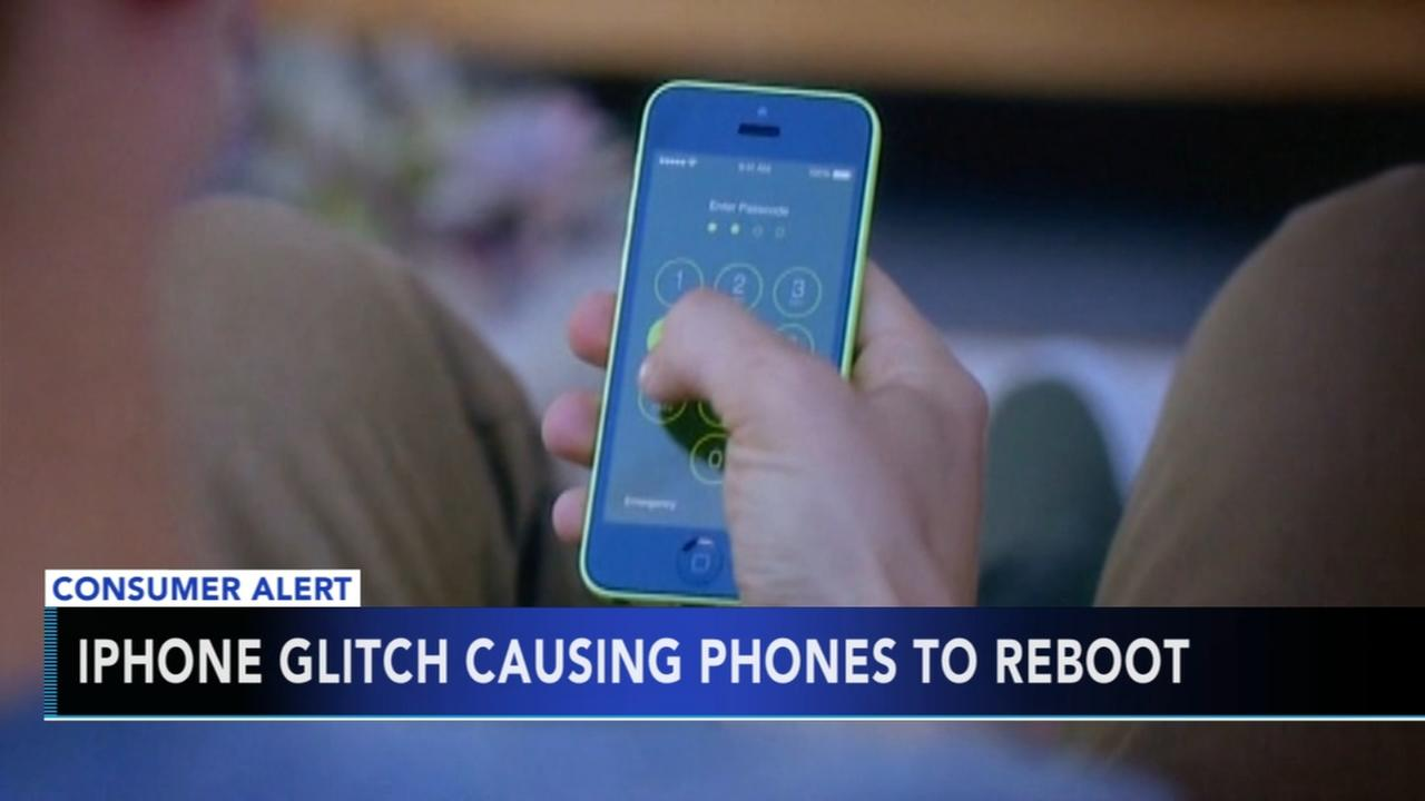 iPhone glitch causing phones to reboot