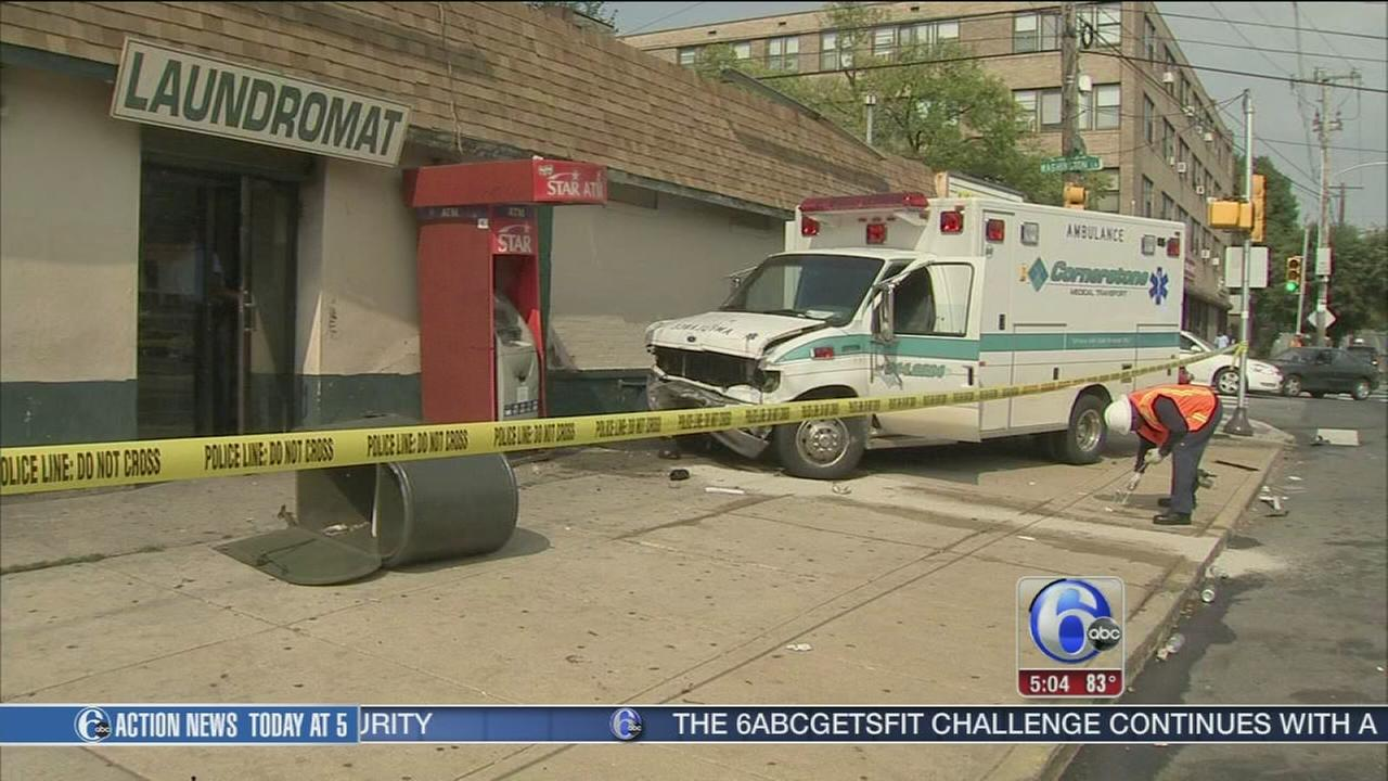 VIDEO: 6 hurt in ambulance crash
