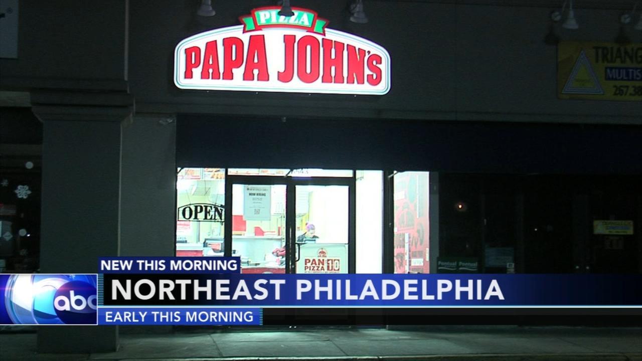 3 armed mask men rob Papa Johns in NE Philadelphia